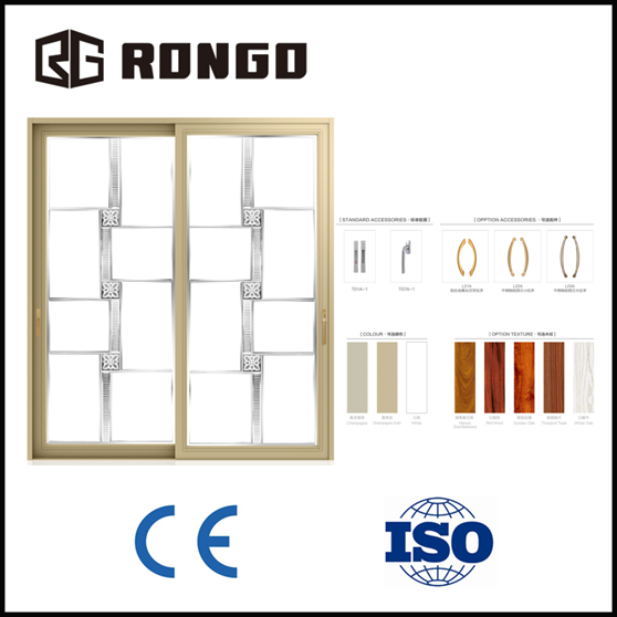 RONGO aluminum double glazing sliding window and door with competitive price form China manufacturer