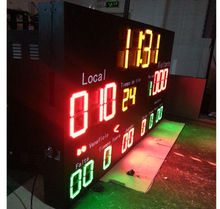 waterproof display cabinet/ gym outdoor led display used scoreboard for sale