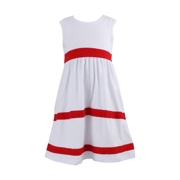 Latest Design Summer Baby Girl Party Dress Kids cotton classic Frock For Wedding sleeveless graceful lovely girls' frocks white