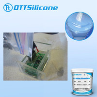 Liquid two parts silicone for electric melting pots