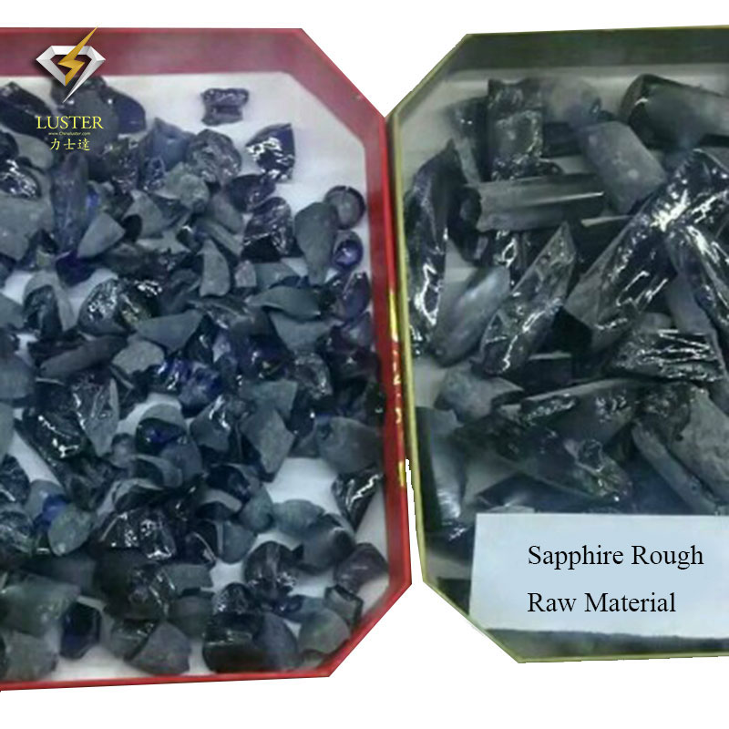 Blue Spphire Rough Material in Bulk Price Synthetic Gemstone Raw Material Sapphire Rough