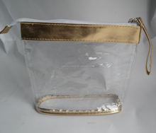 Promotional plastic cosmetic pvc bag with zipper