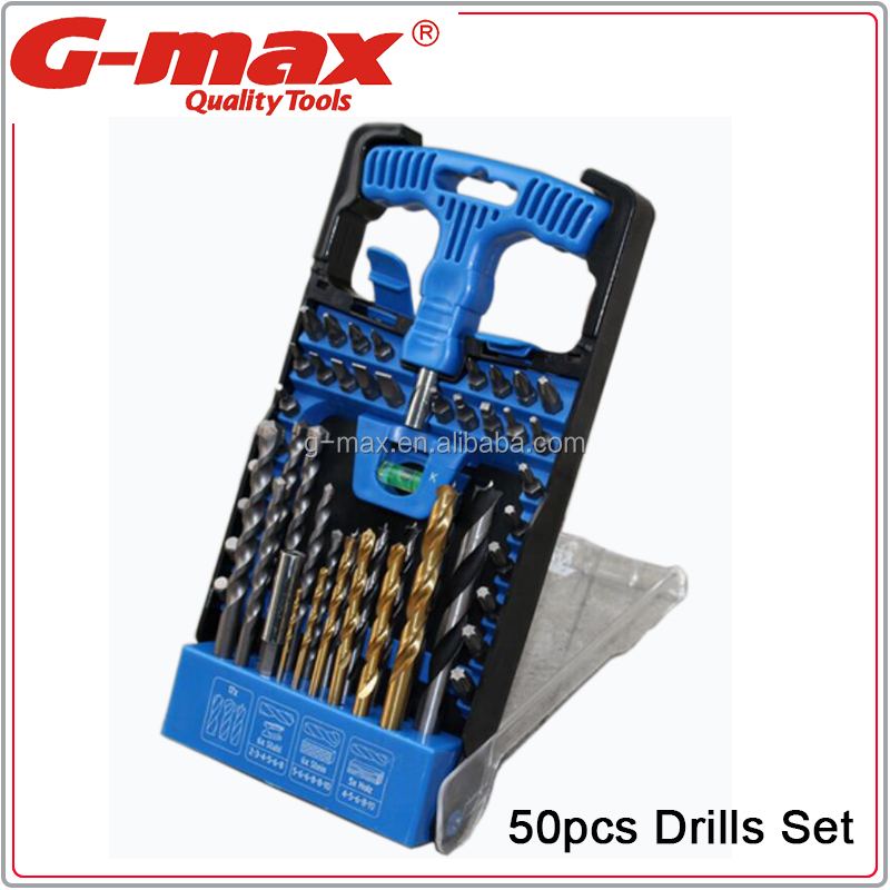 G-max 50pcs Combination HSS Drill Bit Set GT-DB50