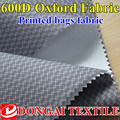 printing 600D oxford fabric with PU coating backing