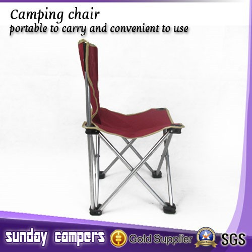 beach camping fishing chair with adjustable steel legs