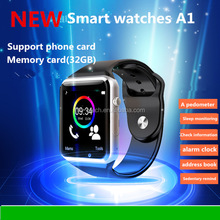 New Bluetooth A1 Smart Watch Wristphone Sport Watches with sim tf For iPhone 6 Samsung S4/Note 2/Note 3 HTC Android/IOS Phones