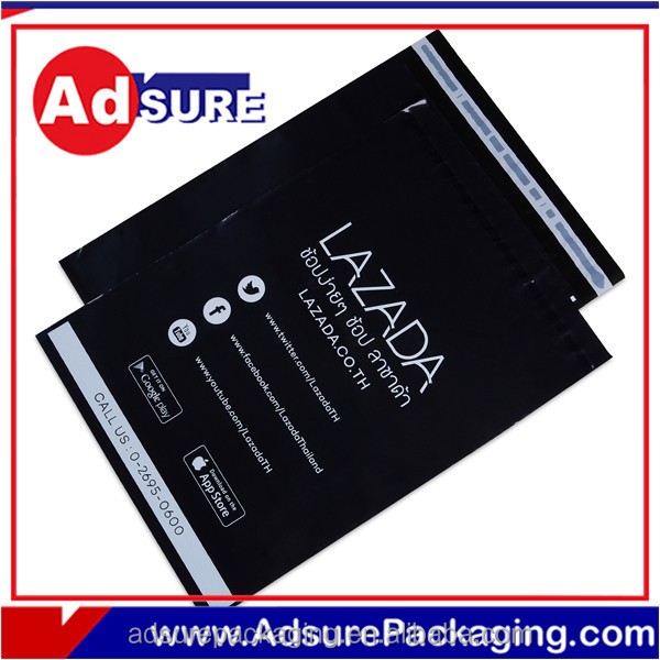 Plastic transparent pockets for underwear packaging plastic expess bags recyclable bag with logo