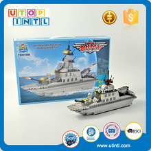 Factory outlet ABS plastic warship building block toy