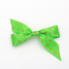 Handmade Fabric Customize Colorful Satin Ribbon Bows Tie