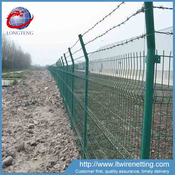 plastic barbed wire fence with welded wire mesh fence for hot sale