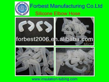 Transprent silicone Elbow TUBES in high quality