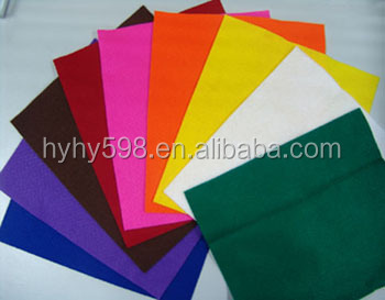 #13120606 factory directly selling eco-friendly 1mm-5mm non woven felt, polyester or acrylic felt