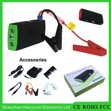 Dependable performance universal emergency portable car battery jump starter with CE FCC ROHS certifications