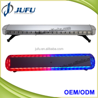 Customized 46 inch LED red blue amber roof police flash emergency light bar