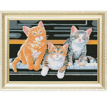 wholesales Russia full diy diamond embroidery painting picture Piano kittens for wall art a85