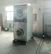 Used laundry shop coin operated laundry commercial washing machines including stacked washer dryer for sale