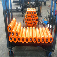 Orange powder coating conveyor roller(CE and ISO factory)