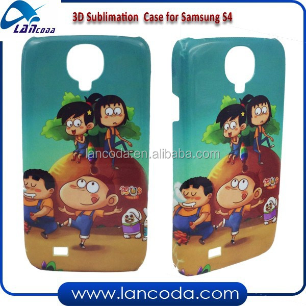 custom design 3D mobile phone case for sublimation for Samsung Galaxy S4 I9500 phone cover,glossy and matte surface
