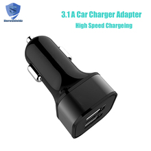 Battery Charger Fast Car Charging Smart Electric AC12-24V USB Car Charger 3.1A dual USB Adapter Car Charger