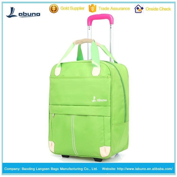 Polyester vantage luggage pink and green travel bags sky travel luggage bag