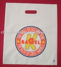 Hot Sales plastic shopping bag with die-cut handle