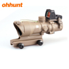 Ohhunt Brand 4X32 Compact Rifle Scope Real Green Fiber Source BDC Reticle Scope with hunting Red dot