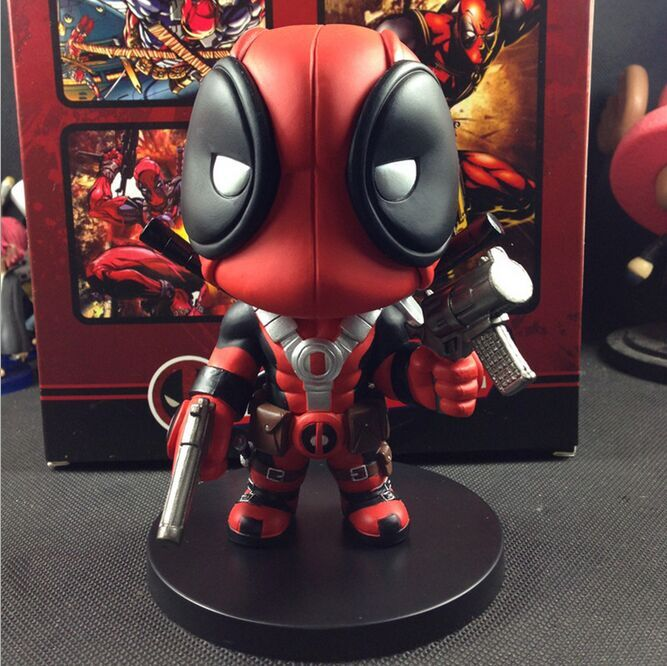"(Wholesale) Marvel X-Men Deadpool Action Figure, Deadpool 3D PVC Figure, Deadpool 13cm/5"" Action Figure New in Box"