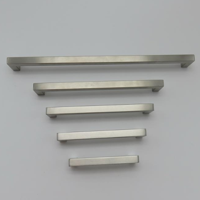 stainless steel 201 hollow satin square tube kitchen cabinet pull furniture <strong>handle</strong>