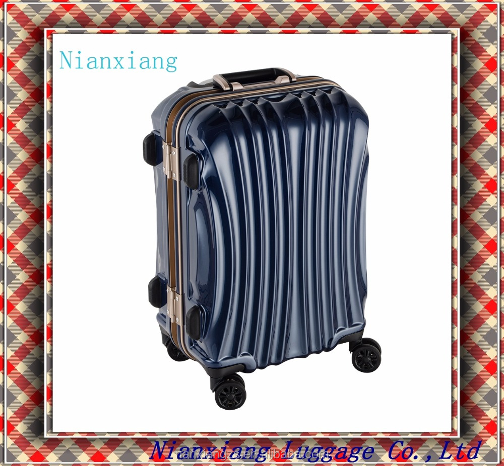 2016 new style ABS+PC plastic hard shell trolley travel luggage