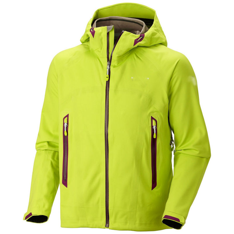 yellow fashion windstop softshell jacket men