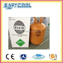 Refrigerant gas r141b refrigerant in 250kg steel drum, refrigerant gas r141b r11 and r113 replacement