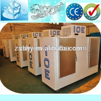 Bagged Ice Storage Freezer Bin for Gas Station Merchandiser