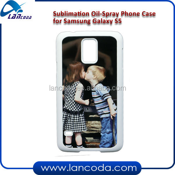 sublimation oil-spray phone case for Samsung S5