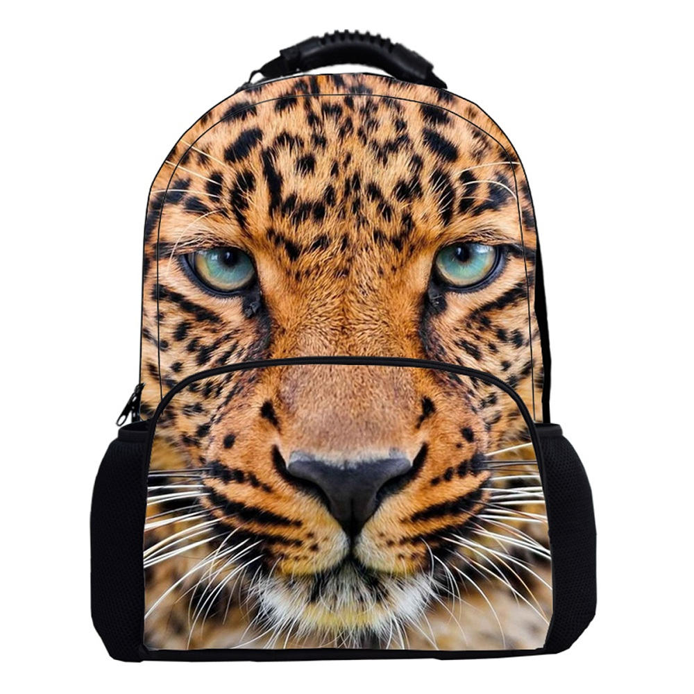 2017 top quality durable 3d vivid kids zoo animal backpack