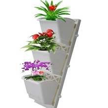 Green Wall garden plastic pot angled wall flower pots vertical wall planter