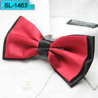 12*6cm red and black Micro fiber bow tie Top Brand Newest Unique Custom butterfly bowtie SL1463
