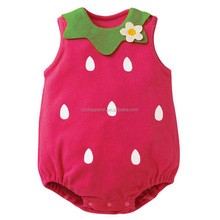 2016 new fashion fruit newborn baby clothes cute baby romper boys toddler clothes sets
