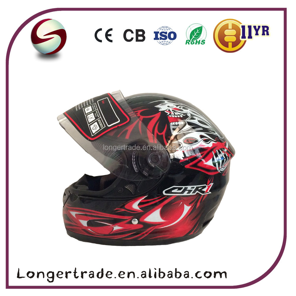 China ABS DOT safety full face helmet motorcycle helmet 2017 wholesale helmet