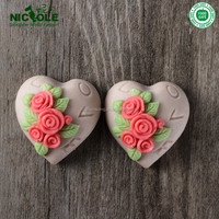 Two Cavity Heart Shape DIY Valentines Gift Chocolate Making Silicone Mould