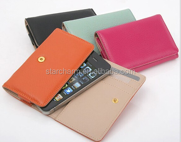 Alibaba Hot Sell Mobile Phone Accessories Factory in China Women Style PU Leather Case for Mobile
