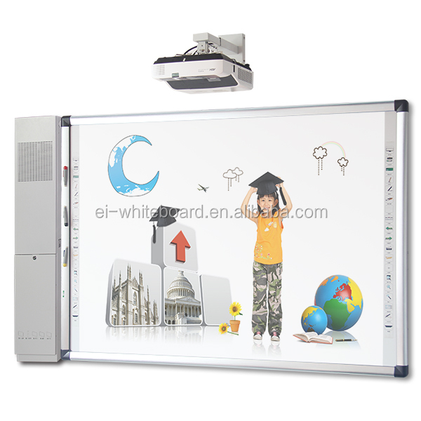 Gesture recognition interactive finger touch infrared whiteboard with speaker