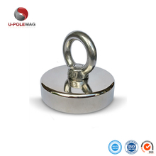 D80mm Round Neodymium Pot Magnet with Countersunk Hole
