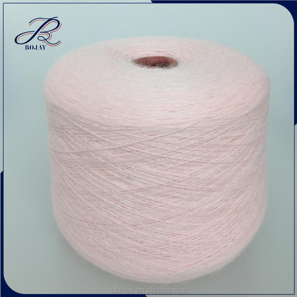 Bojay Yarn Manufacture Natural Feeling Extra fine Yarn For Knitting and Weaving Yarn Nm 14/2 60% Wool 40% Angola Rabbit Blended