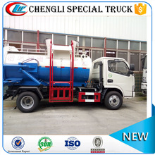 Right Hand Drive Dongfeng Sewer Sewage Suction Truck Restaurant Food Garbage Self-loading Tanker Truck