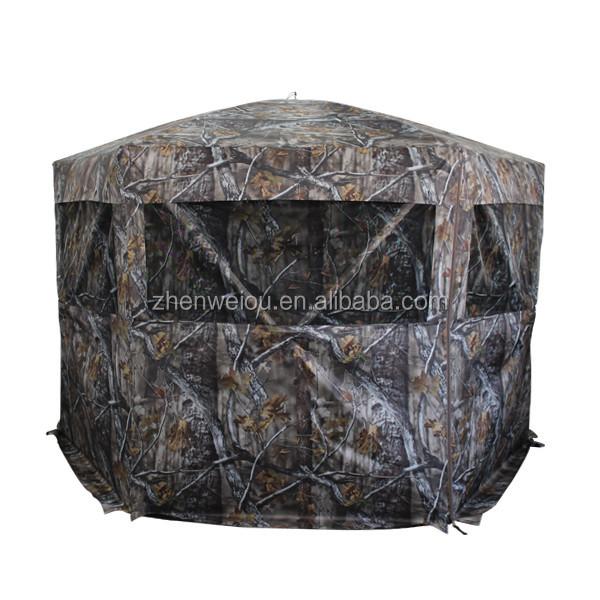 Ground hunting blind portable deer pop up camo hunter weath proof mesh window