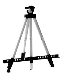 Adjustable aluminum tripod poster stand