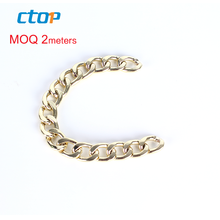 wholesale custom handbag bag accessory light link metal purse wallet designs gold plated chain
