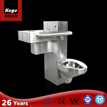 Bathroom sanitary handicapped toilet disabled pedestal toilet bowl stainless steel toilet basin combination