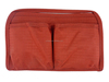 red hand cosmetic bag for lady / fashion personized toiletry bag / travel designer makeup bag