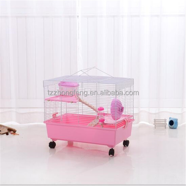 Movable three-layer pet hamster cage squirrel cage, squirrel cage, guinea pig cage # L60 * W35 * H44cm